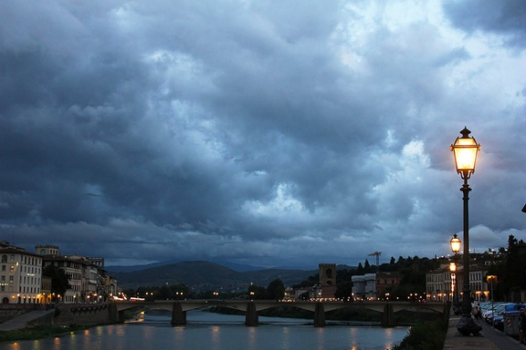 River Arno at Twilight, Italy - Photo by Brian Cleary