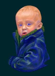 Child Portrait Photoshop Painting by NicoleBarker