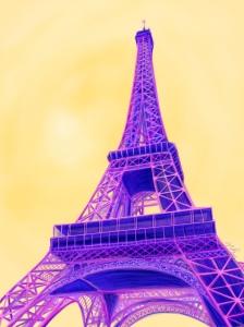 Eiffel Tower iPad Sketch by Nicole Barker