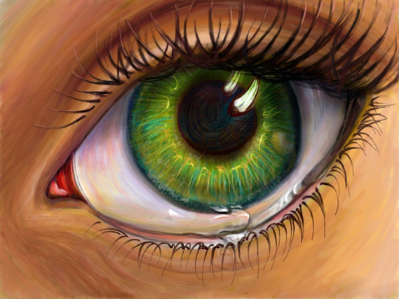 Eye - ipad sketch by Nicole Barker