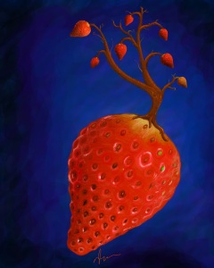 Strawberry - photoshop painting by Nicole Barker