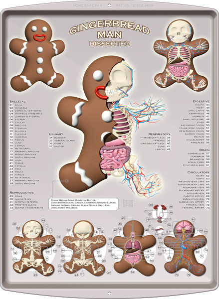Gingerbread Man Pan 600 by Jason Freeny