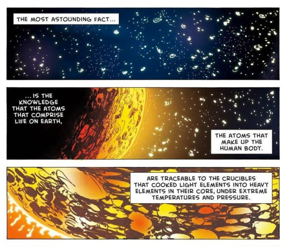"Comic illustrations of ""Most Astounding Fact"" video with Neil deGrasse Tyson"