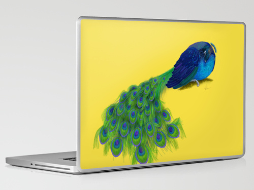 """The Beauty That Sleeps"" laptop skin design by Nicole Barker"