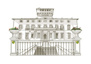 Florence Villa Drawing (updated) by Nicole Barker