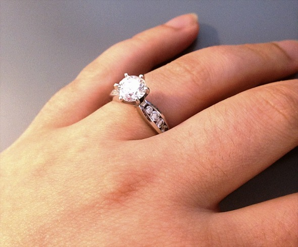 engagement ring - Nicole Barker