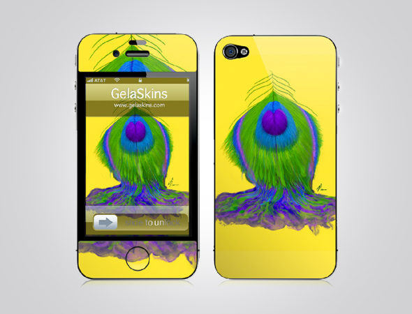 Melting Peacock Feather - iphone cover design by Nicole Barker