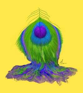 Melting Peacock Feather by NicoleBarker