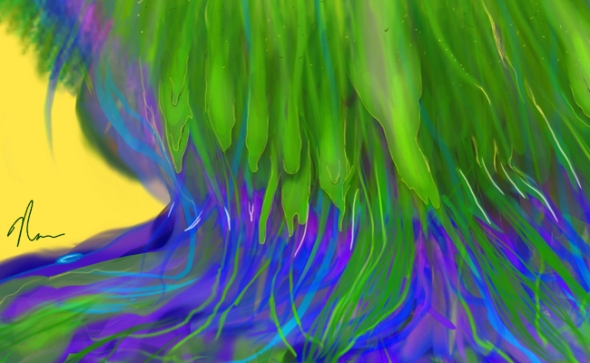 Melting Peacock Feather by Nicole Barker - Crop 2