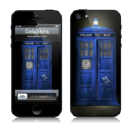 Doctor Who - Tardis concept, iPhone 5 case design by Nicole Barker