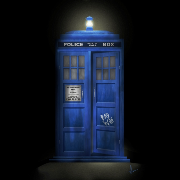 """Death – The Doctor's Truest Companion"" – Tardis concept painting by Nicole Barker"