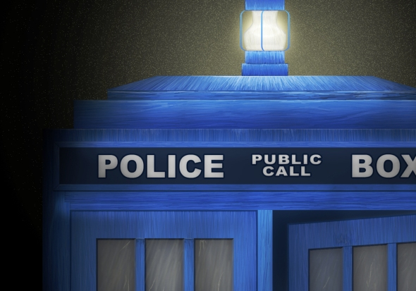 "Crop 1 of ""Death - The Doctor's Truest Companion"" - Tardis concept painting by Nicole Barker"