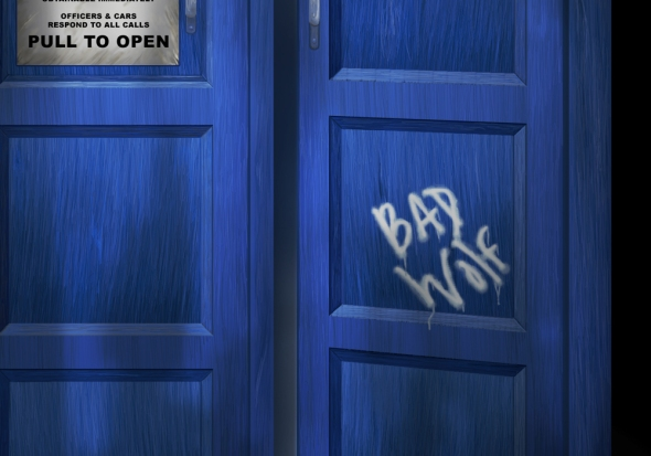 "Crop 3 of ""Death - The Doctor's Truest Companion"" - Tardis concept painting by Nicole Barker"