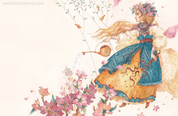 Watercolor Fairy Tale Illustration 12 by Tatyana Kartasheva