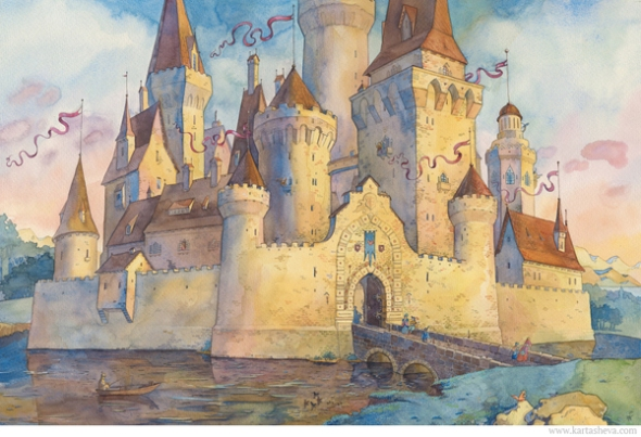Watercolor Fairy Tale Illustration 5 by Tatyana Kartasheva