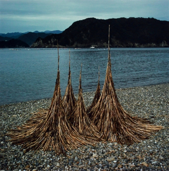 Bamboo Spires - sculpture by Andy Goldsworthy