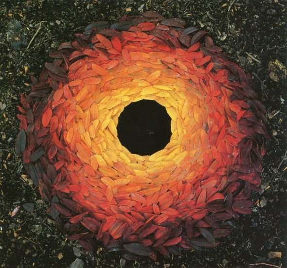 leaves - sculpture by Andy Goldsworthy