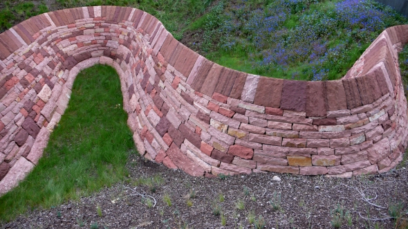 pinkwall - sculpture by Andy Goldsworthy