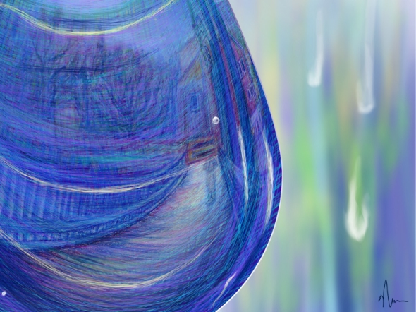 Drip Drop concept painting crop2 by Nicole Barker