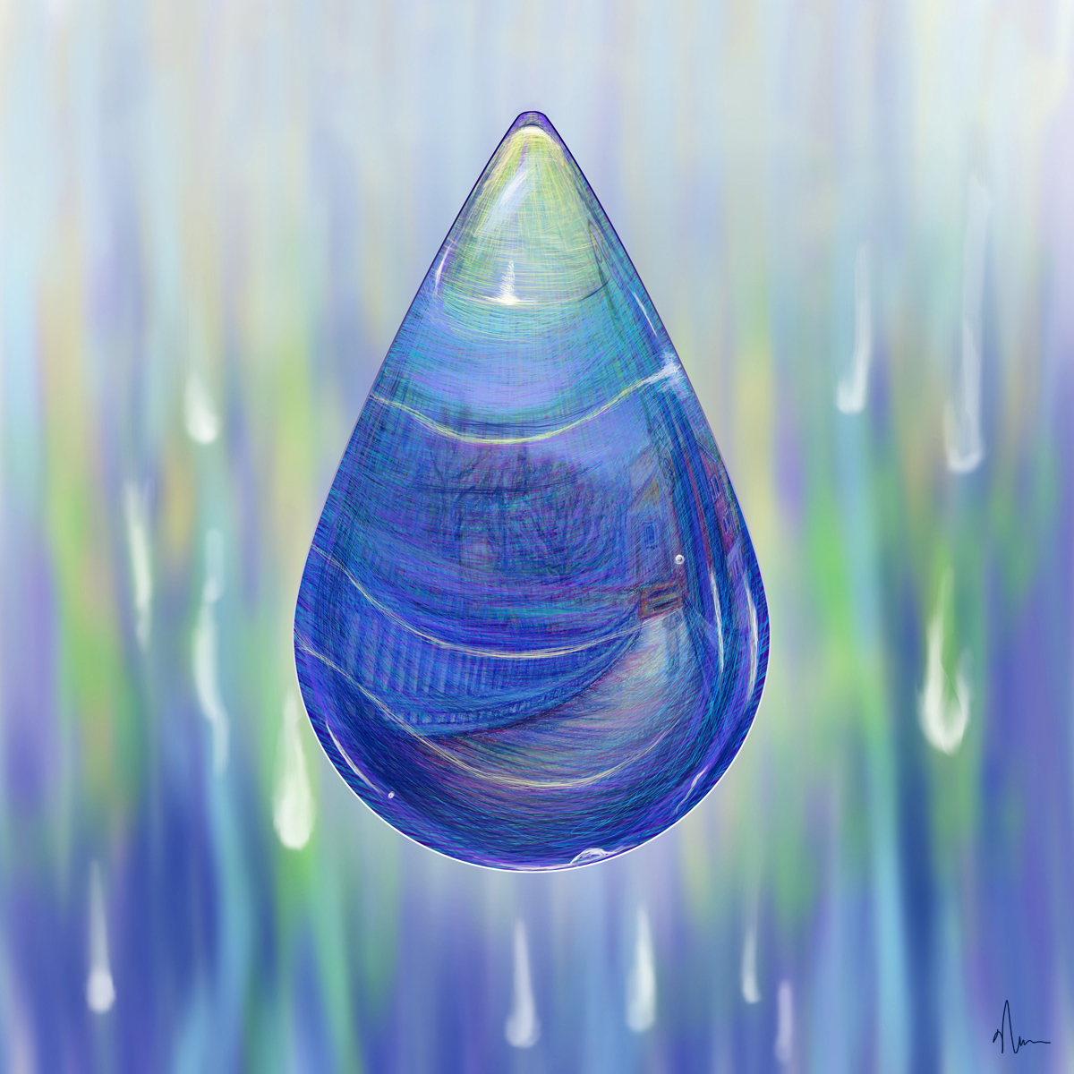 Drip Drop Concept Painting