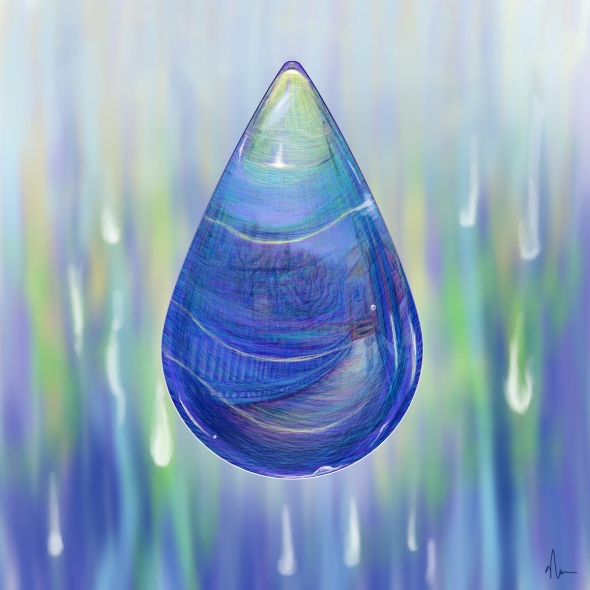 Drip Drop concept painting by Nicole Barker