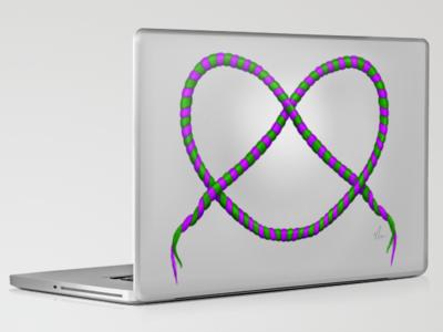Knot - Laptop Design by Nicole Barker