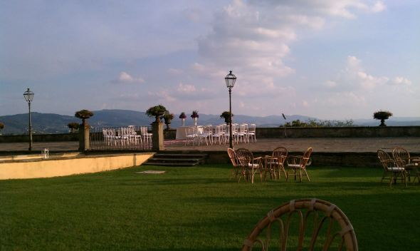 Terrace of Wedding Venue Villa - Fiesole, Italy - 10-8-2012 - photo by Audrie Lawrence