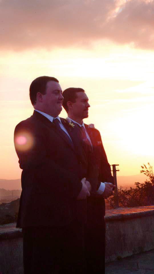 Groom And Best Man Waiting At The Alter - Fiesole, Italy - 10-8-2012 - photo by Audrie Lawrence