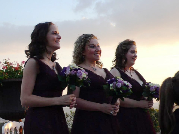 Bridesmaids Waiting At The Alter - Fiesole, Italy - 10-8-2012 - photo by Audrie Lawrence