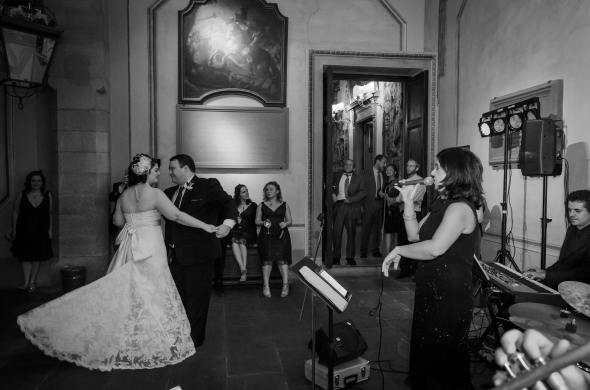 The Bride And Groom's First Dance - Fiesole, Italy - 10-8-2012 - photo by SuperClearyPhoto