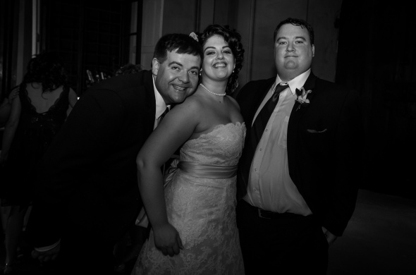 Bride, Groom And Guest Michael Wertz - Fiesole, Italy - 10-8-2012 - photo by SuperClearyPhoto