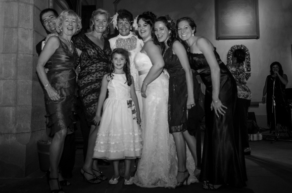 Bride with guests Mike Wertz, Maureen Cleary, Nicole Alloway, Averil Wertz, Ellie Alloway, Jenny Wertz, and Kathleen Solano - Fiesole, Italy - 10-8-2012 - photo by SuperClearyPhoto