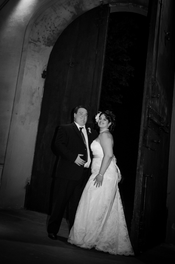 Bride and Groom saying goodbye - Fiesole, Italy - 10-8-2012 - photo by SuperClearyPhoto