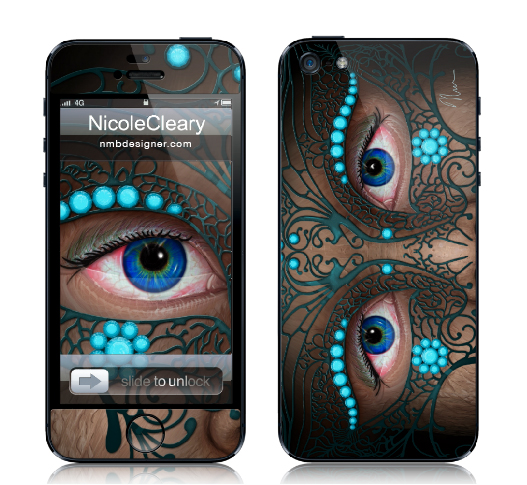 Halloween Mask - iPhone skin - by Nicole Cleary