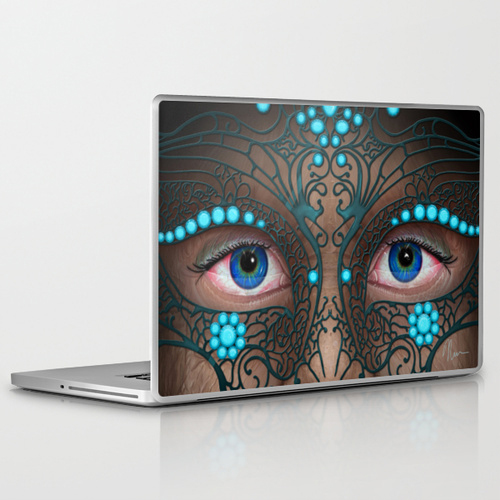 Halloween Mask - laptop skin - by Nicole Cleary