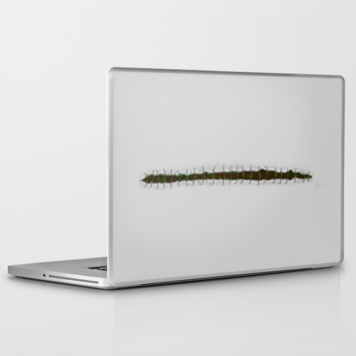 Stitches - painting laptop skin design by Nicole Cleary