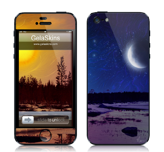 "iphone cover design of ""Day And Night"" painting by Nicole Cleary"