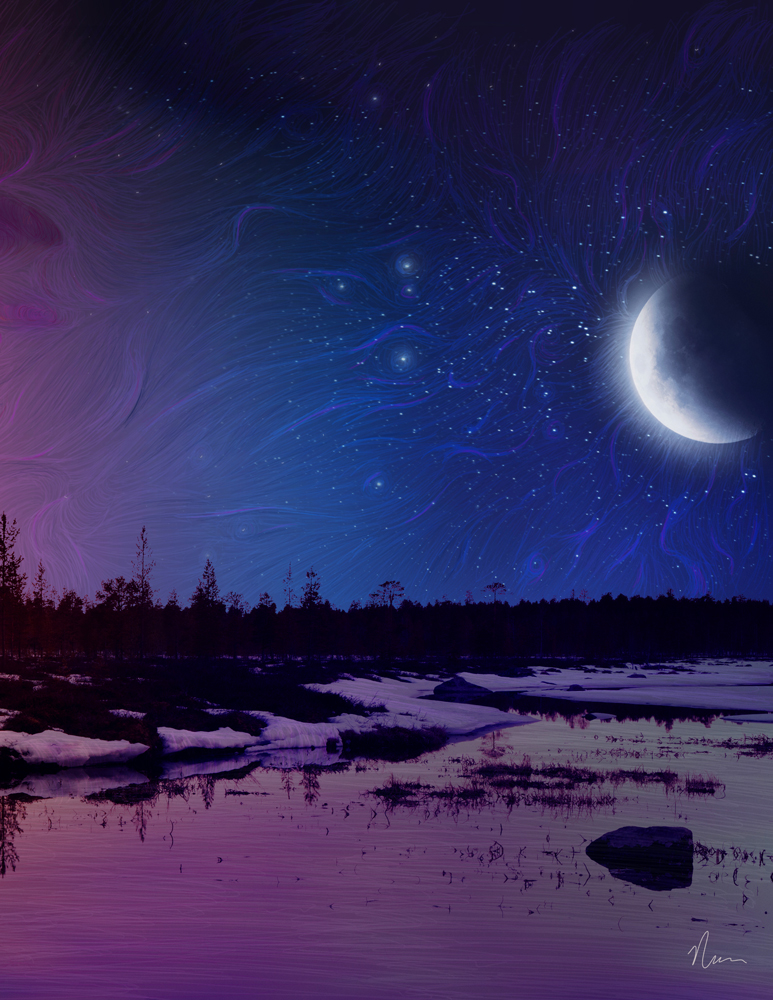 Happy New Year | Day And Night Painting | Nicole M. Cleary