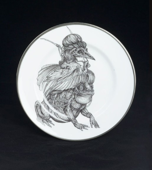 """""""Mad Potters Tea Party"""" Plate by Caitlin Hackett"""