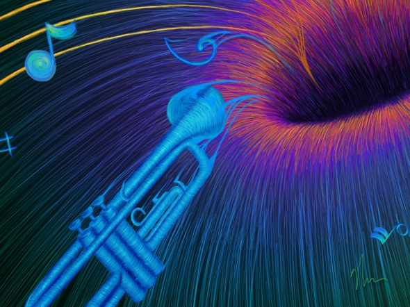 Music Void - crop 1 by Nicole Cleary