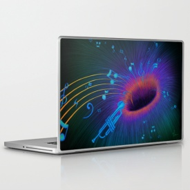 Music Void - laptop skin design by Nicole Cleary