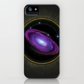 Space Travel - iPhone Case Skin Design by Nicole Cleary