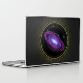 Space Travel - Laptop Skin Design by Nicole Cleary