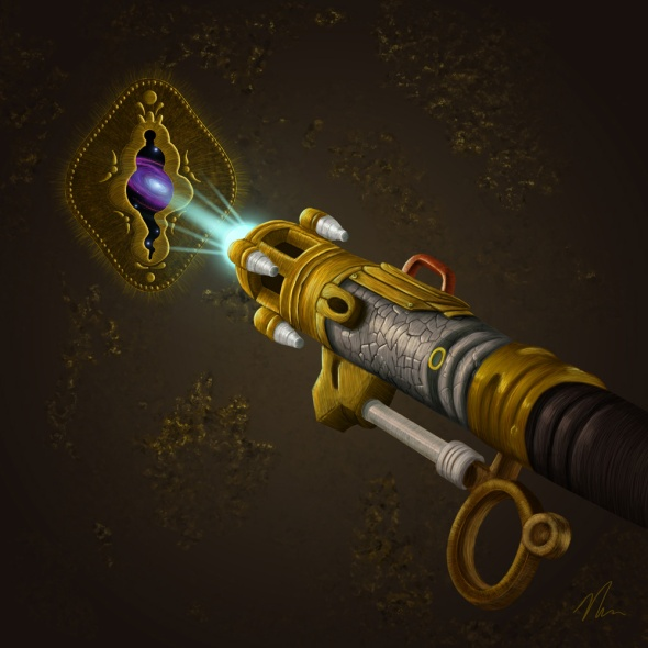 Key To The Universe - Sonic Screwdriver Painting by Nicole Cleary