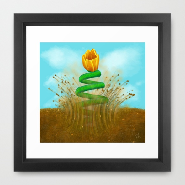 """Art Print of """"Sprung"""" by Nicole Cleary"""