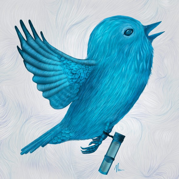 The Original Twitter - Painting by Nicole Cleary